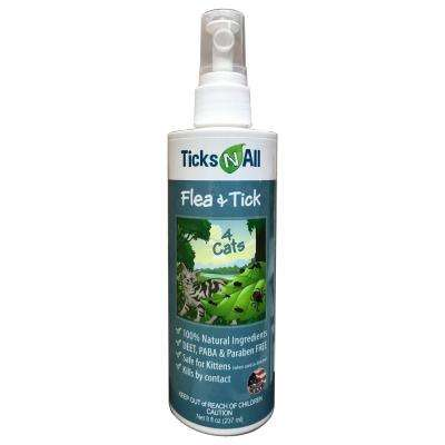 Ticks-N-All 8 oz. Ready-To-Use All Natural Flea and Tick Spray 4-Cats