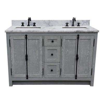 D Double Bath Vanity In Gray With