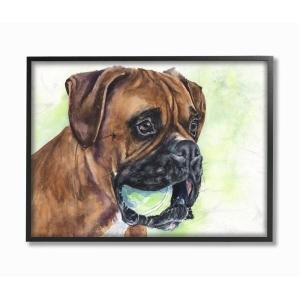 Stupell Industries 16 In X 20 In English Bulldog Puppy Dog Pet By George Dyachenko Framed Wall Art Pwp 256 Fr 16x20 The Home Depot