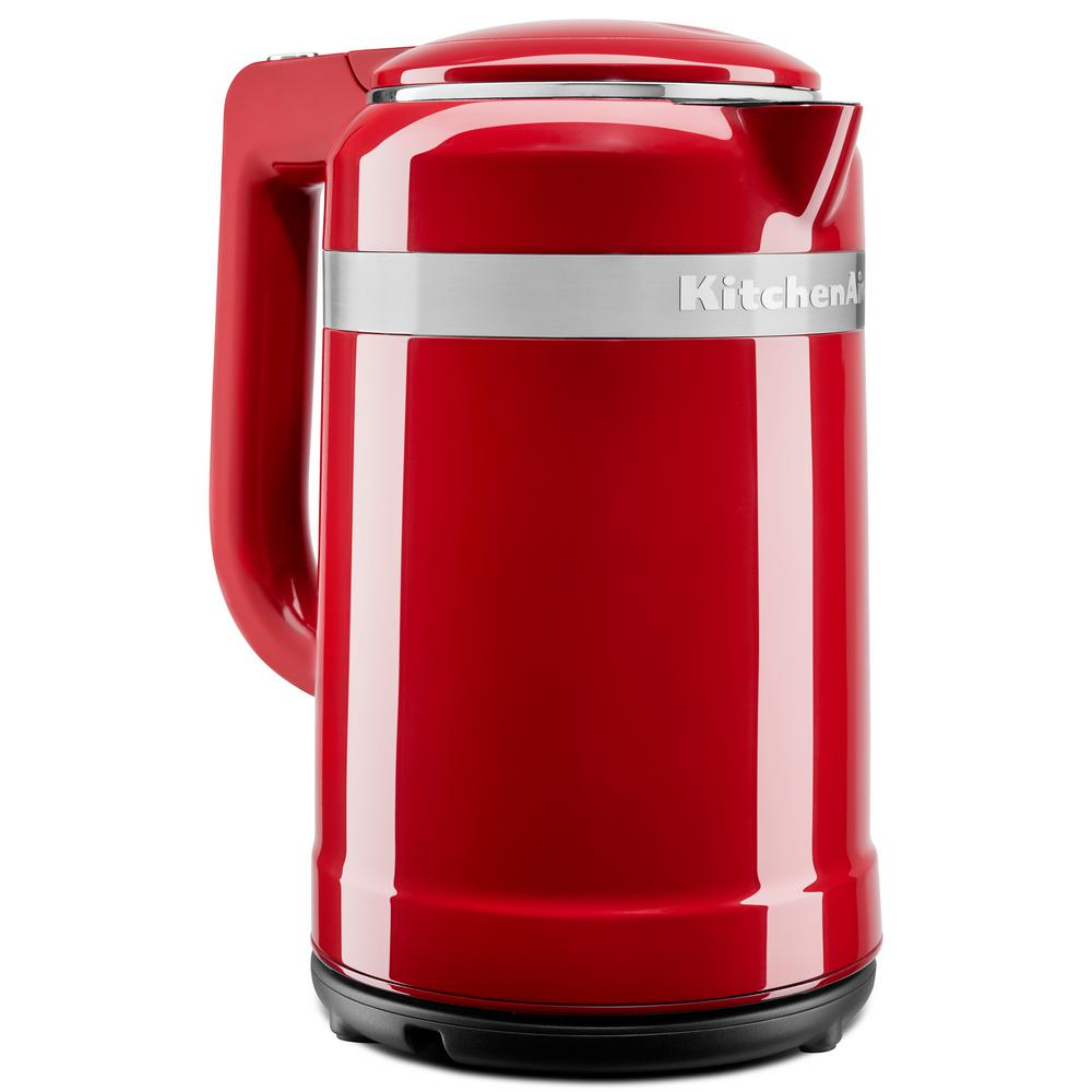 6.3-Cup Empire Red Electric Kettle with Dual Wall Insulation