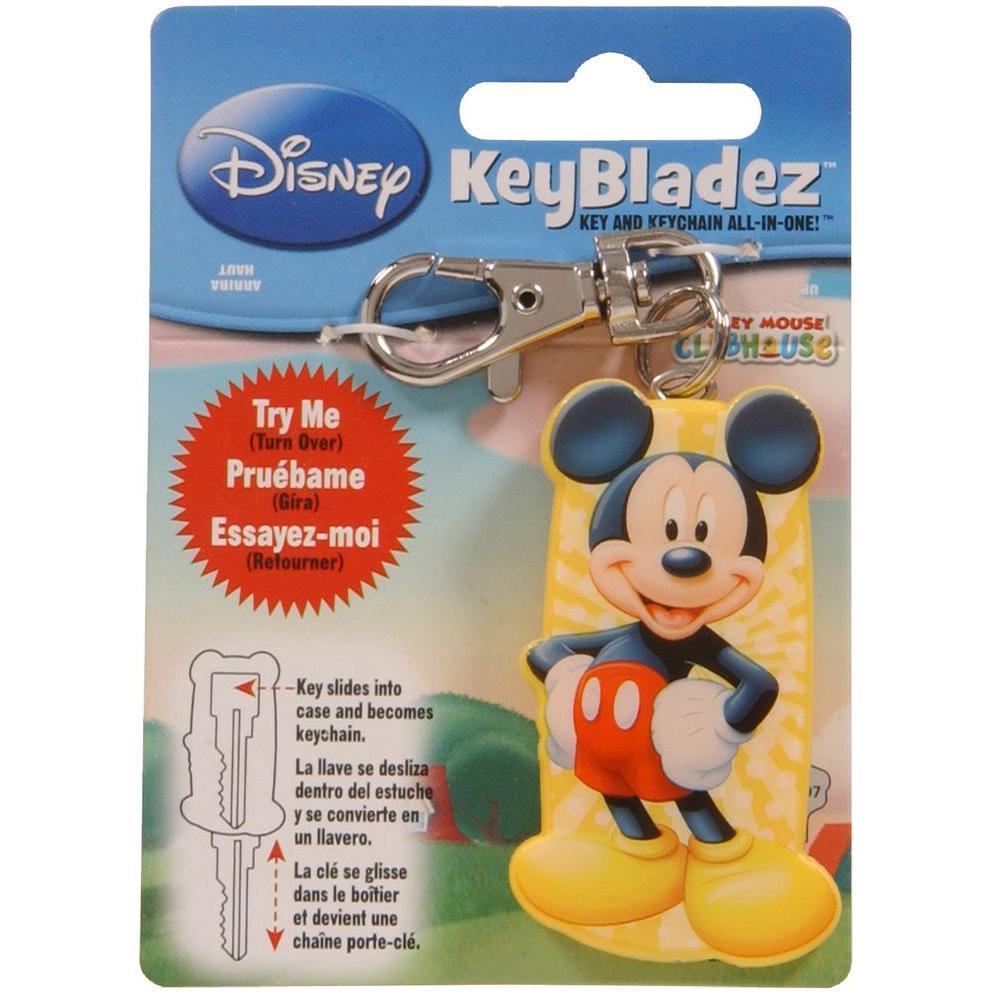 Key Bladez #66 Blank Disney Mickey Mouse Key and Keychain All-in-One