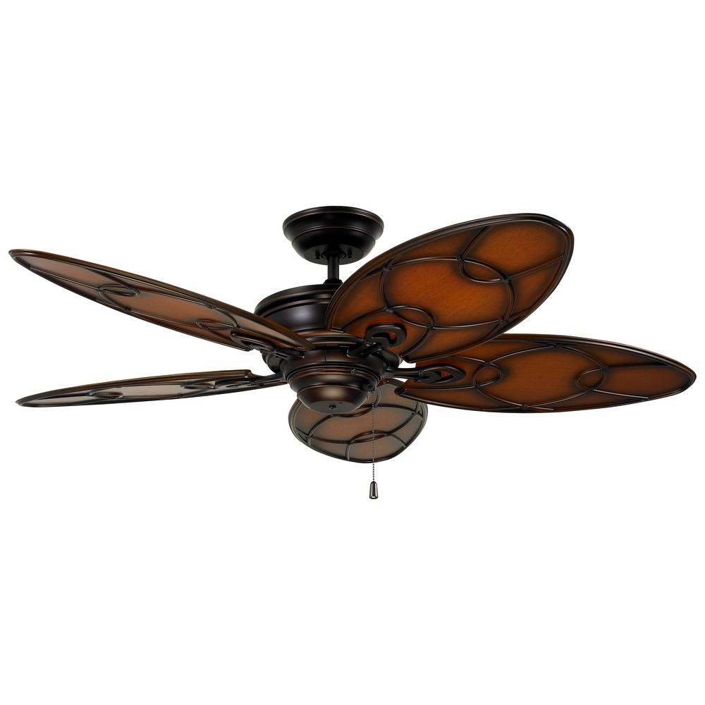 Hunter Summerlin 48 Noble Bronze Ceiling Fan With Light: Hunter Channelside 52 In. LED Indoor/Outdoor Noble Bronze