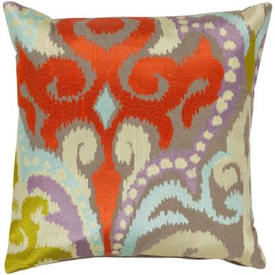 Krasavino Brown Graphic Polyester 20 in. x 20 in. Throw Pillow