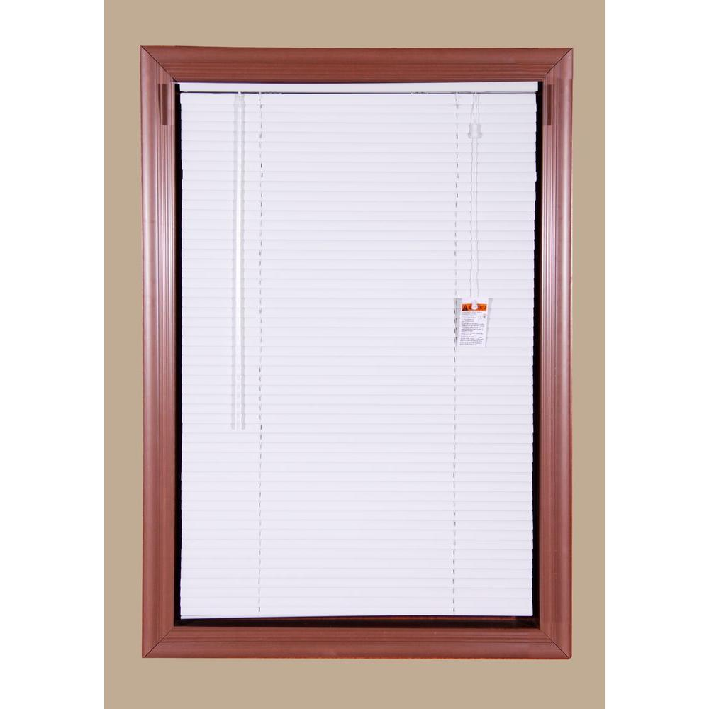 Bali Today White 1 in. Room Darkening Aluminum Mini Blind - 34 in. W x 64 in. L (Actual Size is 33.5 in. W x 64 in. L)