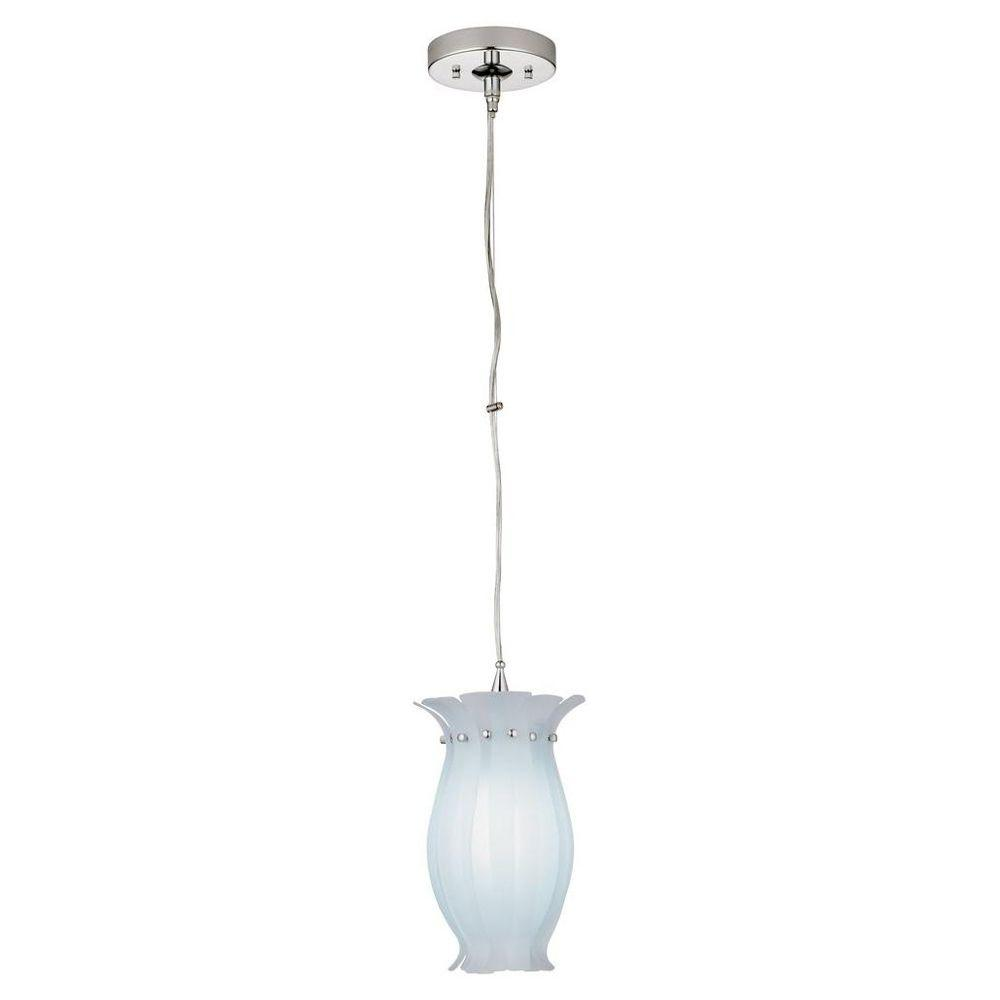 Lithonia Lighting Petula 1-Light White Hanging Mini Pendant