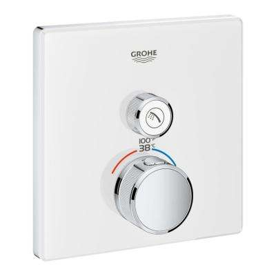 Grohtherm Smart Control Single Function Square Thermostatic Trim with Control Module