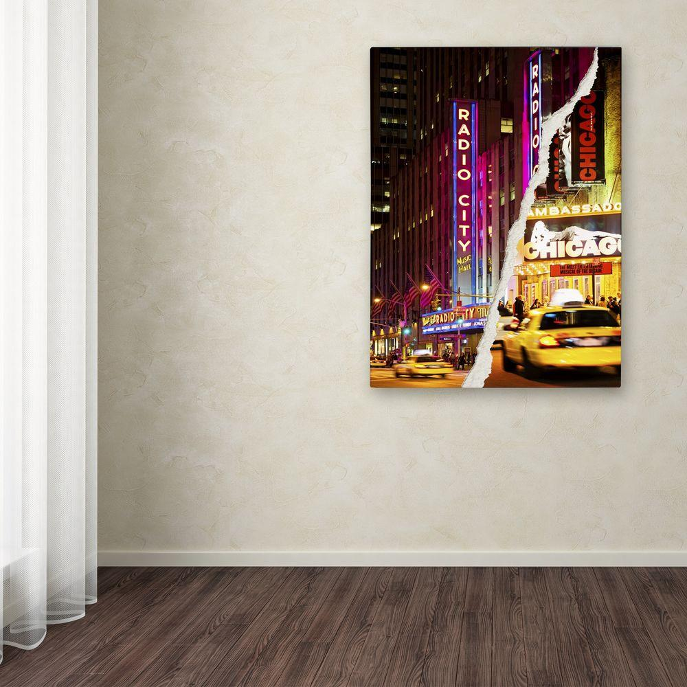 "32 in. x 24 in. ""Taxis Manhattan"" by Philippe Hugonnard Printed"