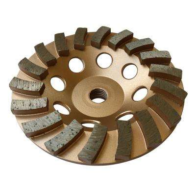 5 in. Diamond Grinding Wheel for Concrete 18 Segments 5/8 in. to 11 in. Arbor