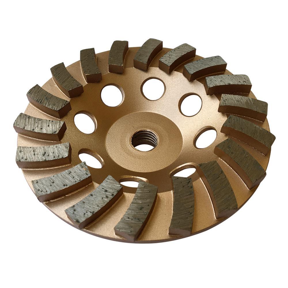 5 in. Diamond Grinding Wheel for Concrete 18 Segments 5/8 in. to 11 in. Arbor