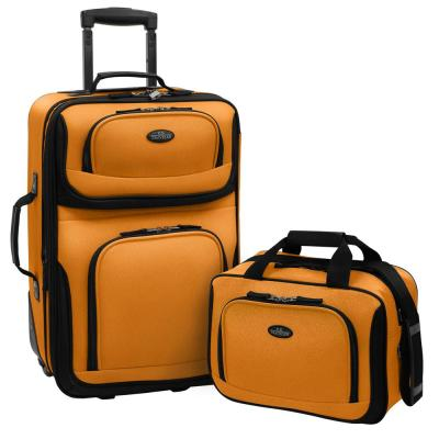 Rio 2-Piece Mustard Expandable Carry-On Luggage Set