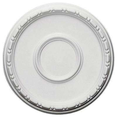 16-1/2 in. OD x 1-1/2 in. P (Fits Canopies up to 5-1/2 in.) Medea Ceiling Medallion