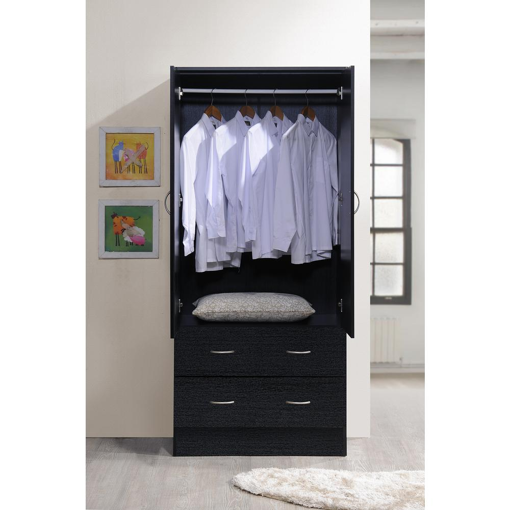 TALL WARDROBE CLOSET Armoire Cabinet Bedroom Furniture ...