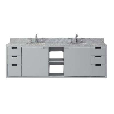 Urich 72 In W X 19 D Vanity Dove Grey With Marble