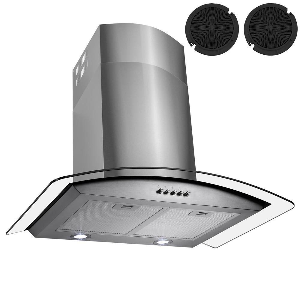 30 in. Convertible Kitchen Wall Mount Range Hood in Stainless Steel