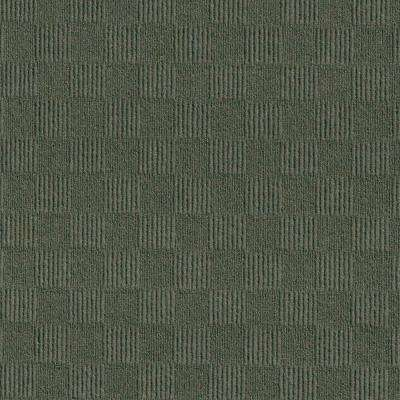 Premium Self-Stick First Impressions City Block Olive Texture 24 in. x 24 in. Carpet Tile (15 Tiles/Case)