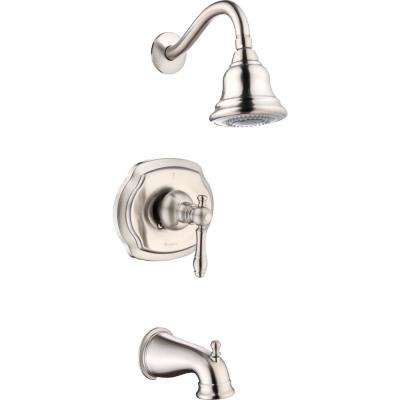 Lyndhurst Single-Handle 3-Spray Tub and Shower Faucet in Brushed Nickel
