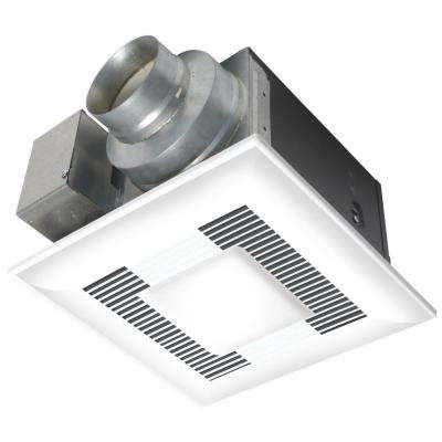 Deluxe 80 CFM Ceiling Bathroom Exhaust Fan with CFL Light, Energy Star