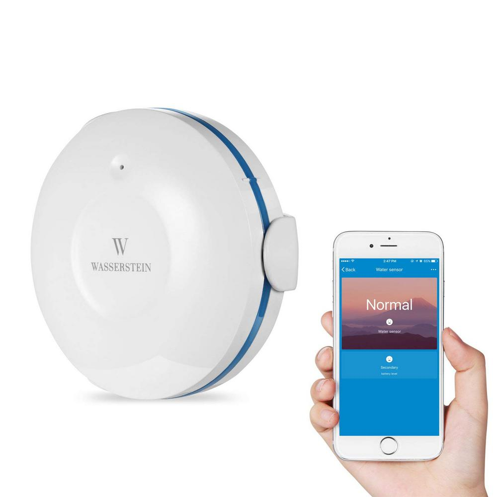 Water Leak Detector >> Wasserstein Smart Wi Fi Water Sensor Flood And Leak Detector Alarm