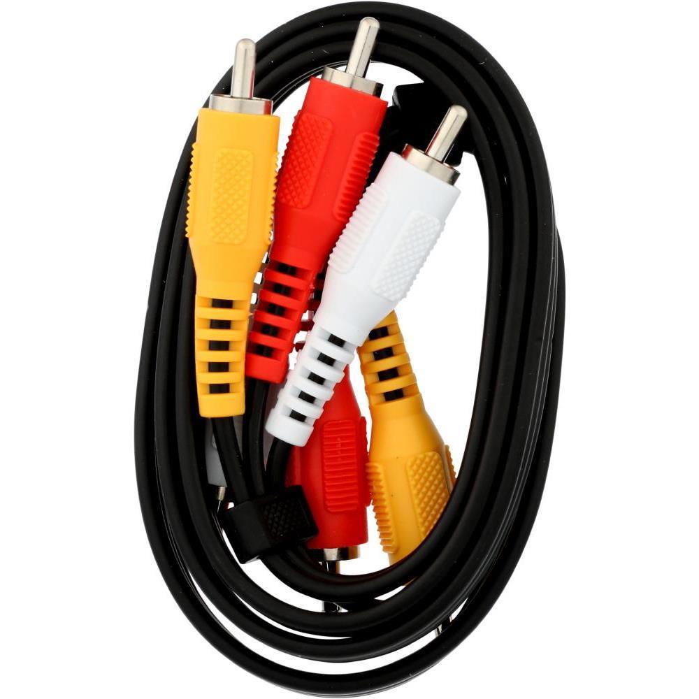 3 ft. Composite AV Cable, Black