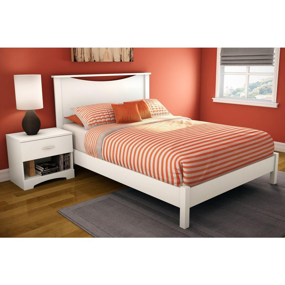 South Shore Step One Full-Size Headboard in Pure White