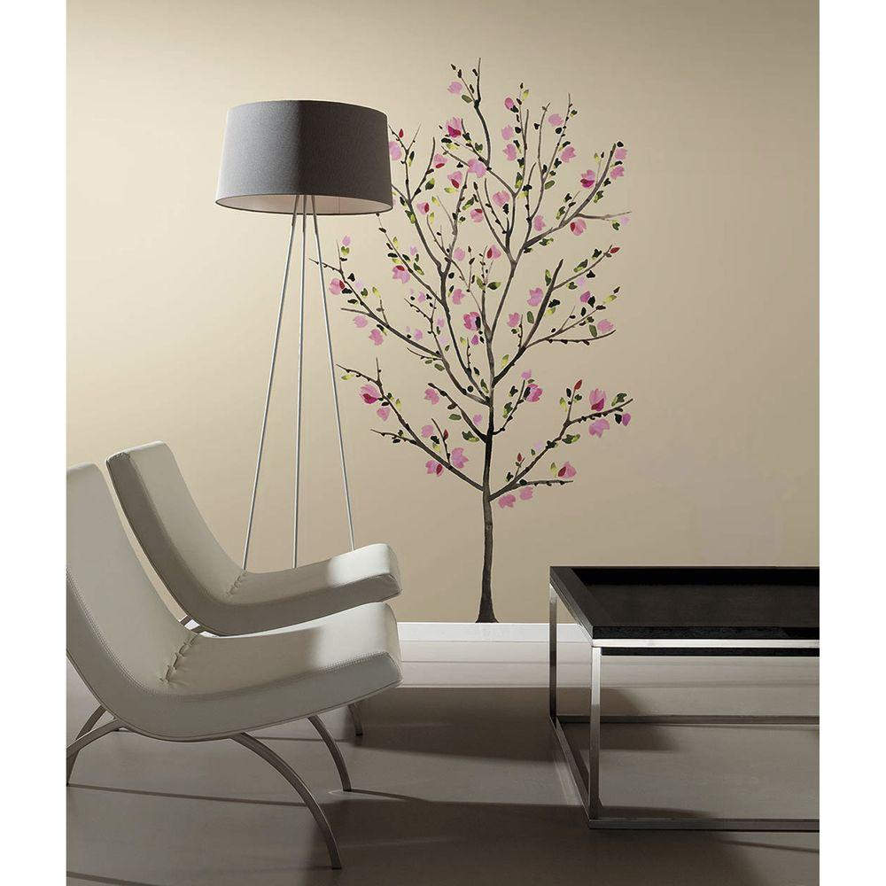 Roommates cars 2 peel and stick wall decals rmk1583scs the home 25 in x 27 in pink blossom tree peel and stick amipublicfo Gallery