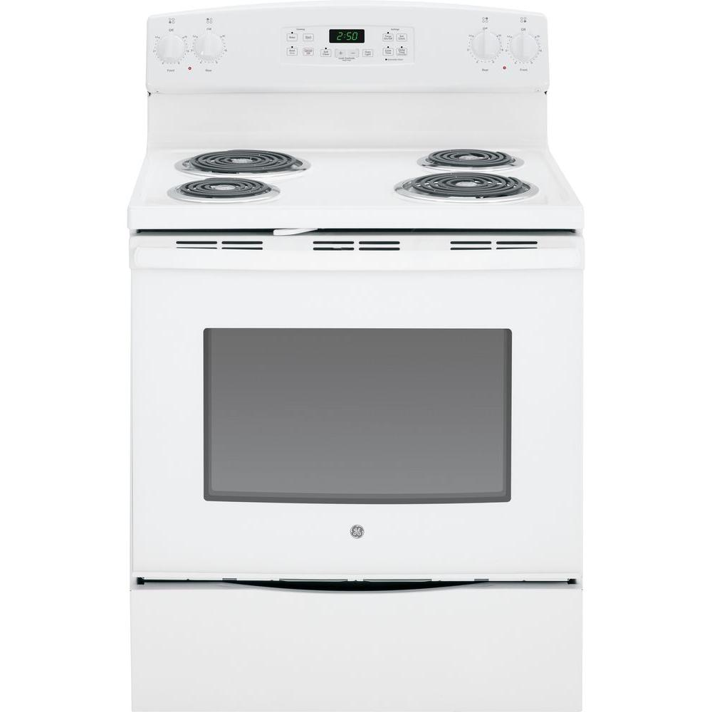 5.3 cu. ft. Electric Range with Self-Cleaning Oven in White