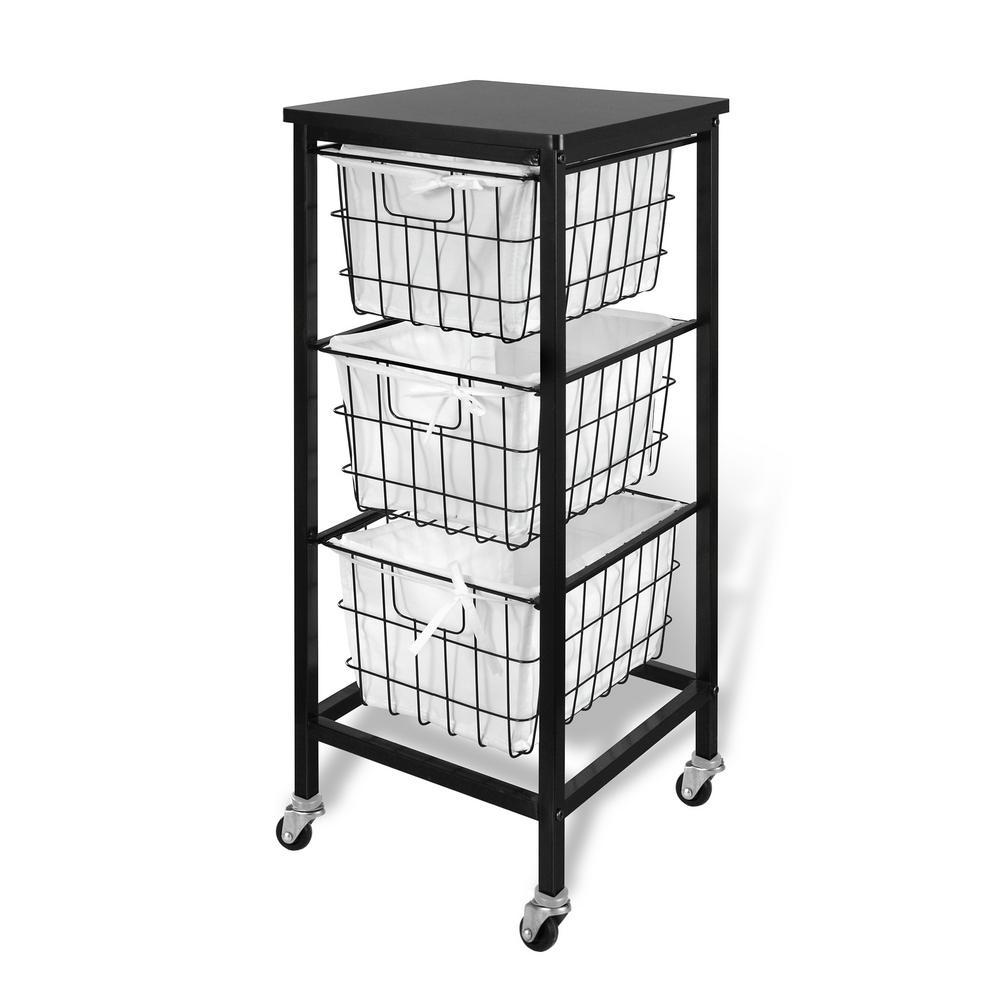 Chrome Utility Carts Garage Storage The Home Depot