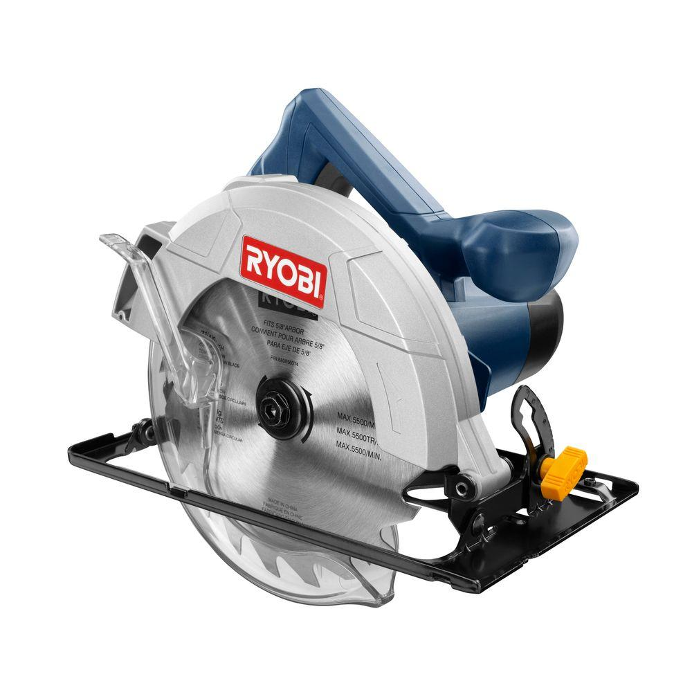 Ryobi 12 amp 7 14 in circular saw csb124 the home depot circular saw greentooth Choice Image