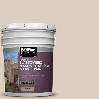 5 gal. #MS-21 Spanish Tan Elastomeric Masonry, Stucco and Brick Exterior Paint