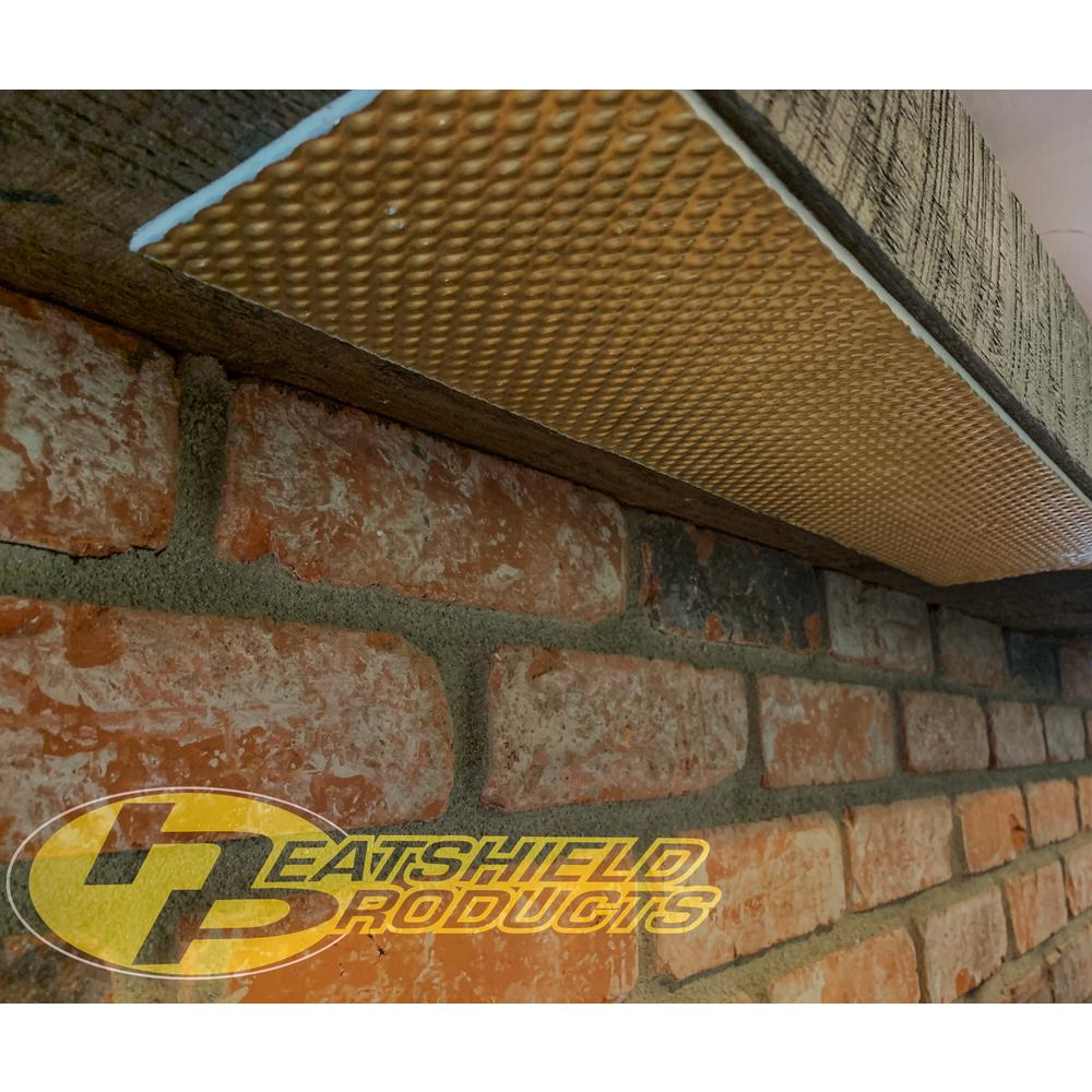 Heatshield Products Mantleflect Shield Gold Mantle And Tv Heat 5 In X 46 X2 Sheet Size