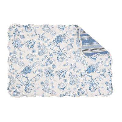 Blue Waters Quilted Placemat (Set of 6)