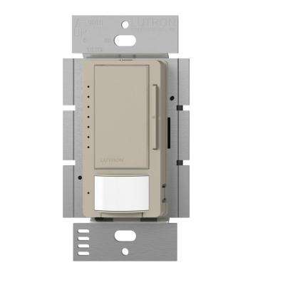 Maestro C.L Dimmer and Vacancy Motion Sensor, Single Pole and Multi-Location, Taupe