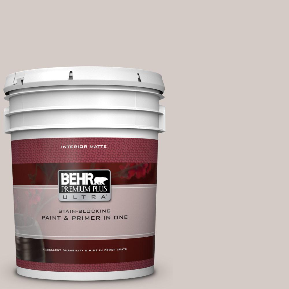 BEHR Premium Plus Ultra 5 gal. #PPU18-09 Burnished Clay Matte Interior Paint and Primer in One
