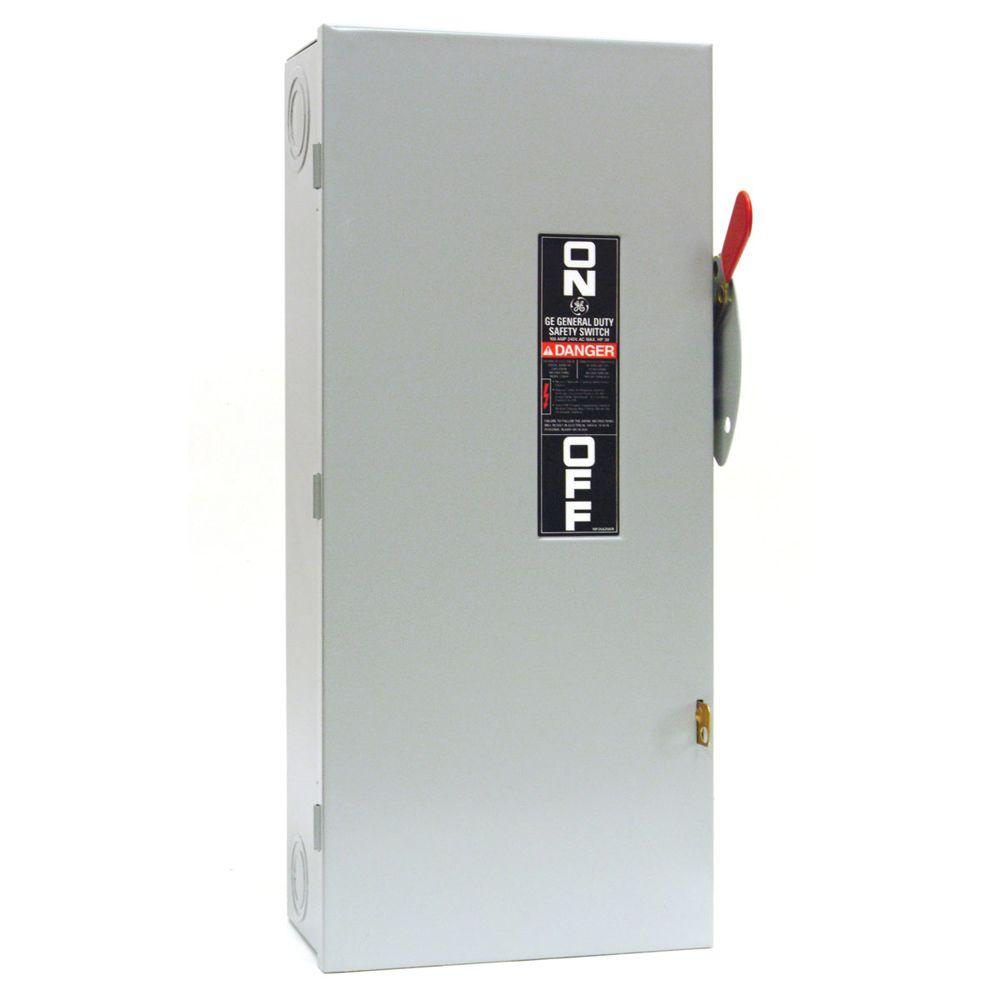 GE 100 Amp 240-Volt Non-Fuse Indoor Safety Switch