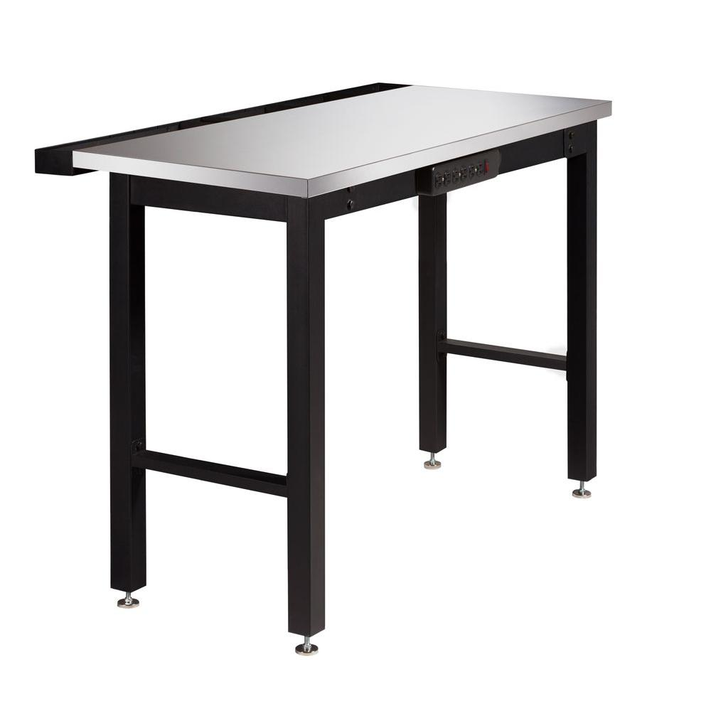 NewAge Products 36 in. H x 24 in. D x 48 in. W Metal Workbench with Stainless Steel Top