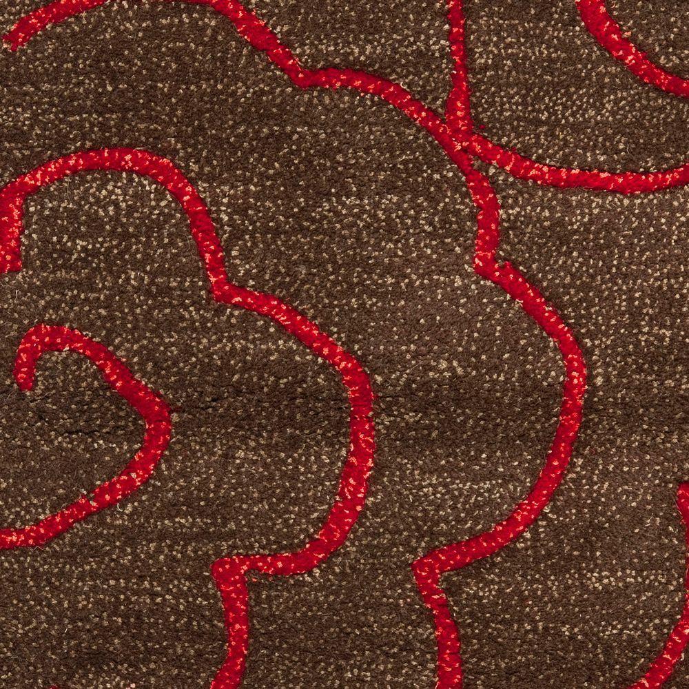 Chocolate Red Safavieh Soho Wool Area Rug SOH812D