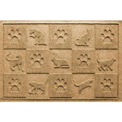 Gold 24 in. x 36 in. Cat in the Mat Pet Mat