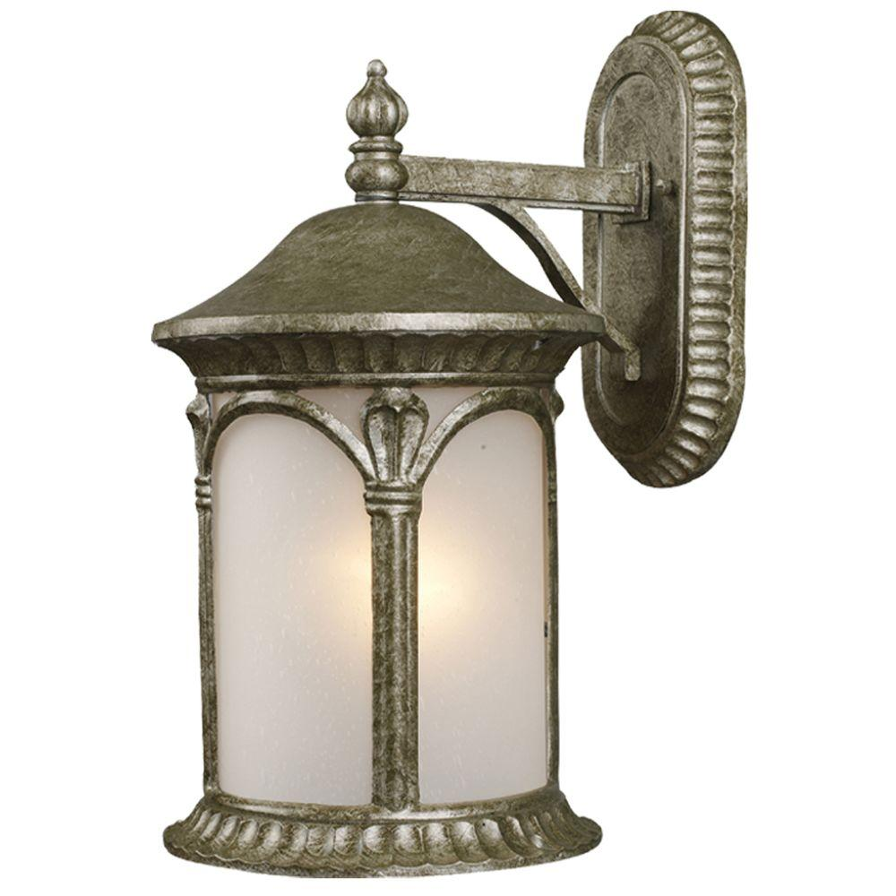 Tulen Lawrence 1-Light Outdoor Antique Silver Incandescent Wall Light