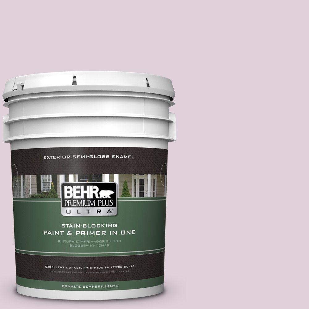 5-gal. #690E-2 Heather Rose Semi-Gloss Enamel Exterior Paint