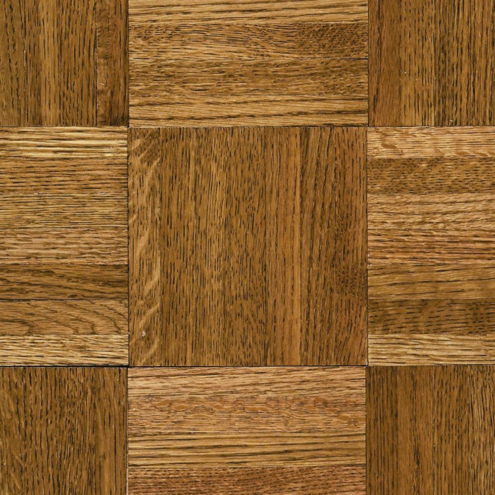 Bruce Natural Oak Parquet Spice Brown 5 16 In Thick X 12