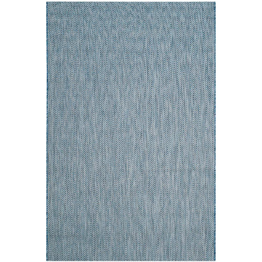 I This Review Is FromCourtyard NavyGray 4 Ft X 6 IndoorOutdoor Area  Rug
