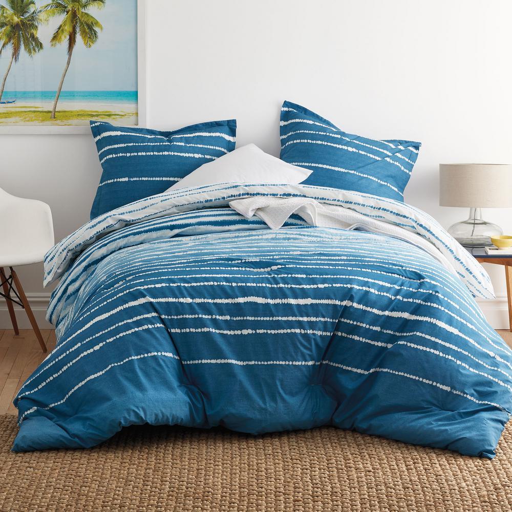 The Company Store Coastline Cotton Percale Twin Comforter 50384E-T-BLUE-MULTI
