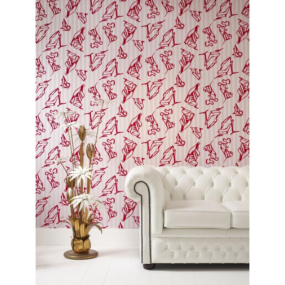 Graham & Brown Shoes Pink Removable Wallpaper