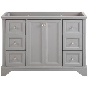 Stratfield 48 in. W x 22 in. D x 34 in. H Bath Vanity Cabinet Only in Sterling Gray