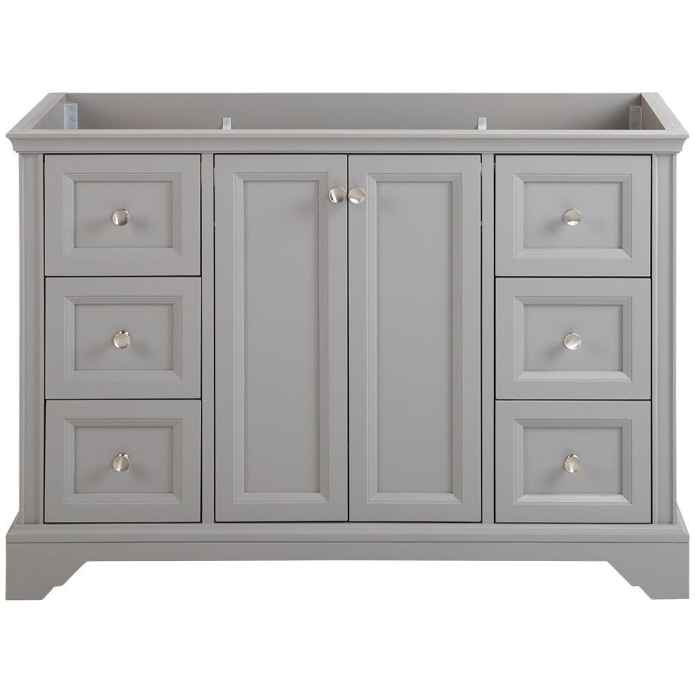 Stratfield 48 in. W x 22 in. D x 34 in. H Bath Vanity Cabinet Only in Sterling Gray
