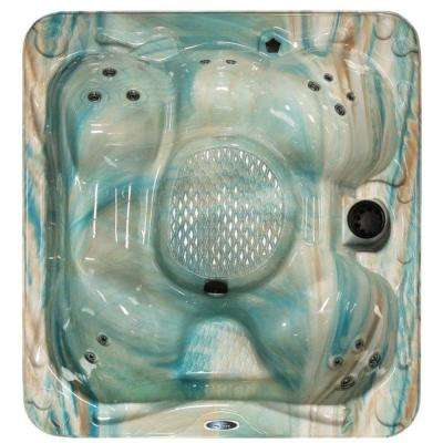 Plug and Play 5-Person 15-Jet Premium Acrylic Hot Tub with Multi Color Spa Light