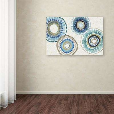 """30 in. x 47 in. """"Indigold XXV"""" by Lisa Audit Printed Canvas Wall Art"""