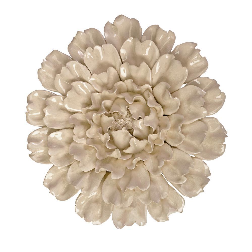Isabella Flower Large Ceramic Wall Decor