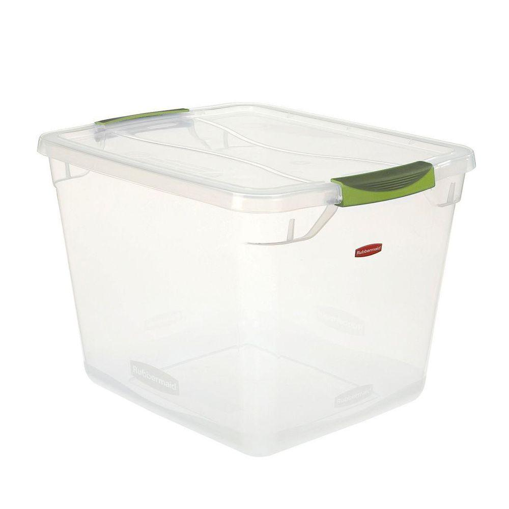Rubbermaid Premium Clever Store 30 Qt. Storage Tote In Clear