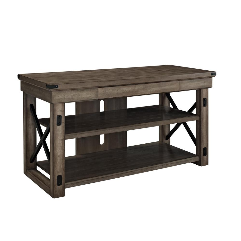 Forest Grove Collection 48 in. Gray Oak TV Stand with 1 Drawer Fits TVs Up to 50 in. with Cable Management